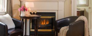 Deacon room fireplace