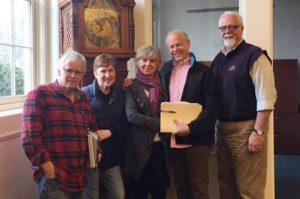 New owners Ken and Marcia pictured with old owners and Rick Wolf, Agent.